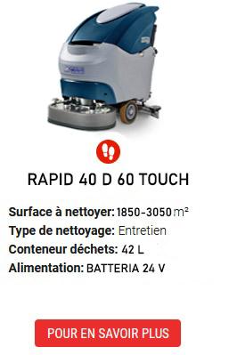 auto-laveuses RAPID 40 D 60 TOUCH