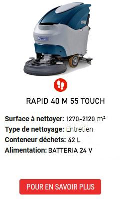 auto-laveuses RAPID 40 M 55 TOUCH
