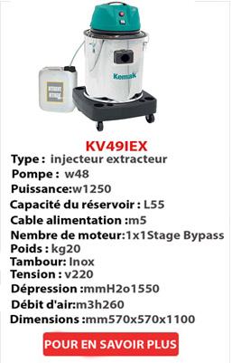 injecteur extracteur KV49IEX-1
