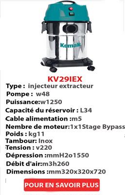 injecteur extracteur inox 34 lt
