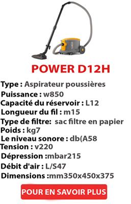 Aspirateur à poussière POWER D 12 HE