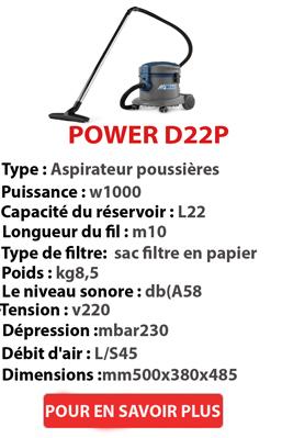 Aspirateur à poussière POWER D 22 P