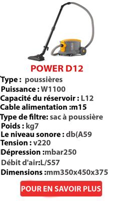 Aspirateur à poussière power D12