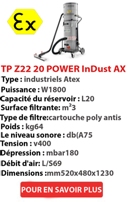 Aspirateur POWER InDust AX 20 TP Z22