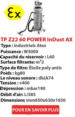 Aspirateur POWER InDust AX 60 TP Z22