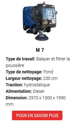balayeuses de voirie M7-
