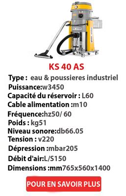 Aspirateurs industriels eau et poussières AS 40IK